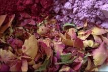 Hibiskus, Tonerde, Rosenblüten
